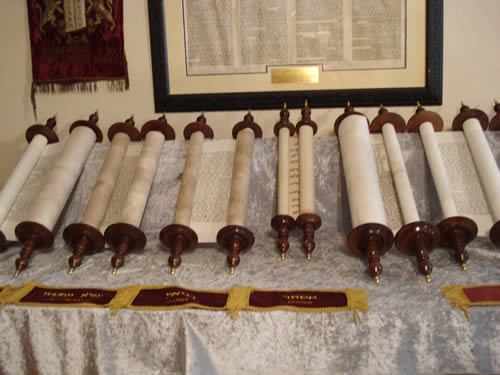 Scrolls at Scriptorium in Glen Rose, about 2008