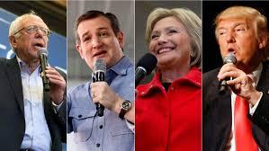Republican and Democratic candidates--2016